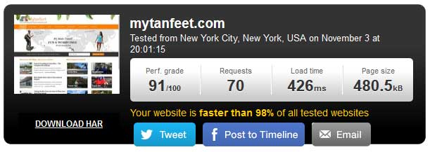 Make-your-travel-blog-faster-pingdom-speed-test